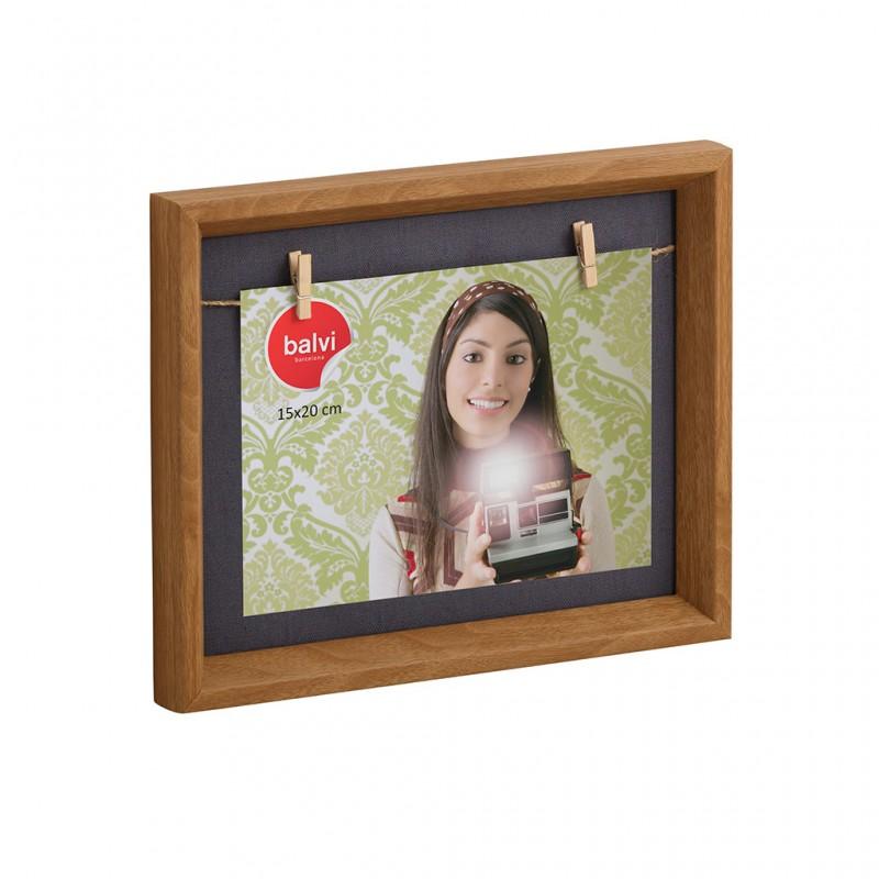 Portafoto cornice da parete con mini mollette - NEBRASKA by BALVI