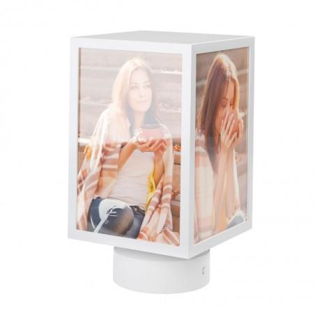 Portafoto con rotazione per 4 foto colore bianco - KUBE by BALVI
