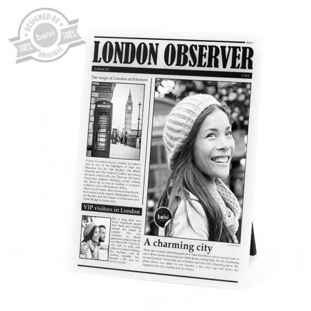 Portafoto come una copertina di giornale - LONDON OBSERVER by BALVI