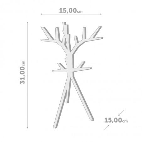 Portagioie albero stilizzato colore nero h 31 cm - TREED by BALVI