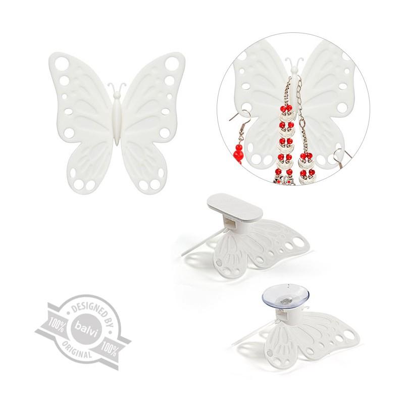 2 Porta accessori a forma di farfalla colore bianco - VOLARE by BALVI