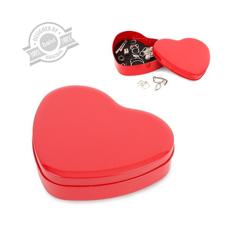 Scatola portagioie in metallo a forma di cuore - MYLOVE by BALVI