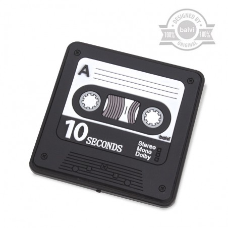 Magnete con registratore a forma di cassetta musicale - REC by BALVI