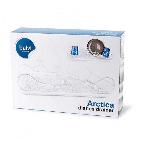 Scolapiatti in metallo e plastica con onde e delfini - ARCTICA by Balvi