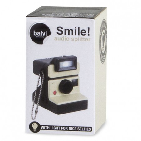 Sdoppiatore audio e portachiavi con luce led - SMILE! by BALVI