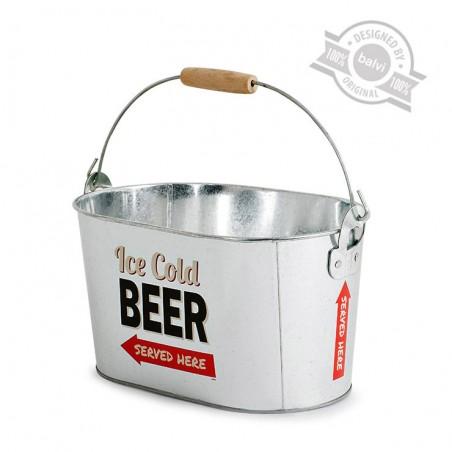 Secchiello per il ghiaccio stile vintage per birra con apribottiglia- PARTY TIME by BALVI